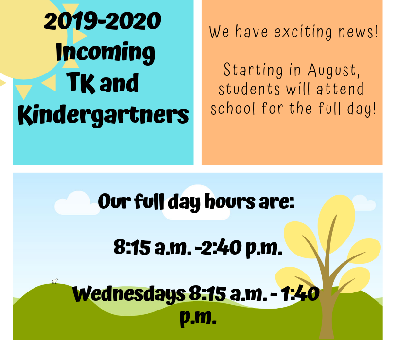 TK-Kindergarten 2019-2020 hours